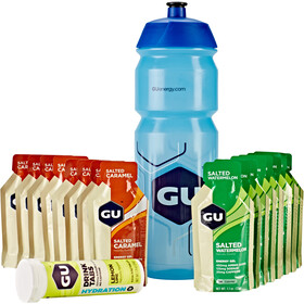 GU Energy Test Box Including Bottle Salted Caramel and Watermelon